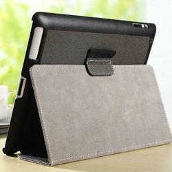 creative stylish gray jean skin stand case for ipad 2 3 4