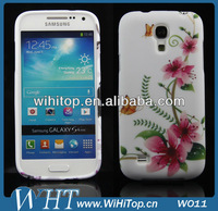 Simple beautiful plastic cell phone case for Sumsung Galaxy S4 mini I9190,flower printing