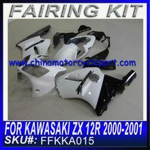For KAWASAKI ZX 12R 2000-2001 carenado de la motocicleta WHITE&BLACK FFKKA015