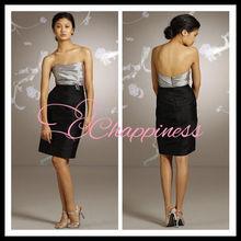Strapless knee length taffeta cocktail dresses latest dress designs designer dresses