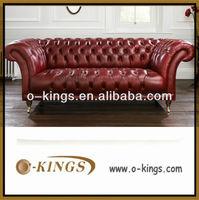 italian leather chesterfield sofa/ comfortable chesterfield leather sofa