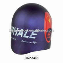 designer swim caps,swimming goggles case,bright color silicone swimming cap