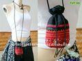 Broderie mobile de sac de sac d'épaule de poche de tribu de colline petite par Hmong
