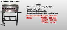 4 Burner Gas Griller