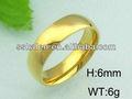 polonês ouro amarelo anel de casamento barato