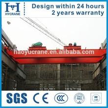 Control panel overhead crane for girder lifting
