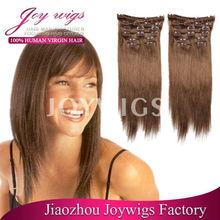 single drawn 4# 8-26inch clip in human hair extensions for black women, clip on hair extensions for black women