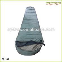 Military Nylon Mummy Sleeping Bag With Head Mosquito Net