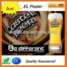 Beer/Wine Customized EL Advertising Panel,EL Poster Panel Flash