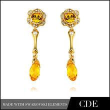 18K Gold Middle East Style Earrings