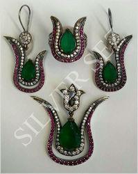 925 silver Harem Huram Hurrem Sultan tv series ottoman antique diamond look Turkish jewellery