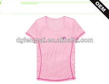 100% poloyester sports dry fit tshirt for women