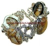 Silver Awesome Mexican Matrix Opal Citrine Bracelet, 925sterling silver jewelery