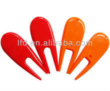 Plastic golf marker divot tool