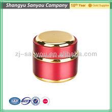 30ml red empty aluminium cream jar for skin care cream