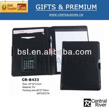 PU advertising promotional gifts / business a4 leather file bag hot sale