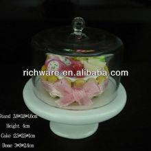 Hot selling white ceramic mini cake stands