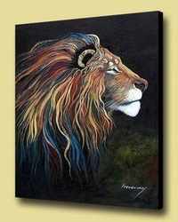 Decorative animal canvas painting with stretched for hanging