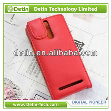 Hot selling leather flip phone case for sony xperia s lt26i