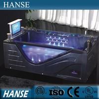 HS-B308 japanese bathtub/vertical bathtub/ sexy massage bathtub with tv