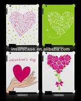 2013 New Lovely Heart Hard Design Case for New iPad/iPad 2 3 4