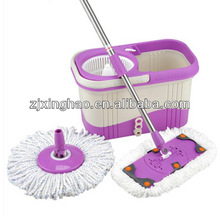 360 Degree Spin Mop & Spin Dry Bucket with 2 Mop Heads No Foot Pedal Needed