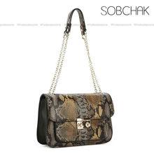 2013 wholesale alibaba china small quantity snake effect genuine leather ladies should bag, fashion guangzhou handbag
