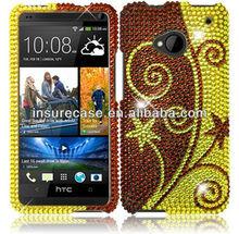 Elegant Swirl Bling full diamond Protector Case for HTC ONE M7