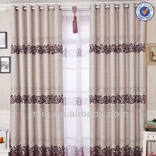 J autumn new style jacquard blackout grommet curtains