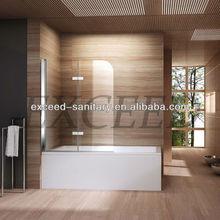 pivot and hinge bathtub screen