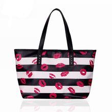 the cross lines lips pattern shoulder bags,high quality designer handbags women