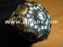 Turkish Jewelry Designers 925 Silver Gold 21 k 18k 14k Handmade Jewelry Rose Cut Ottoman Jewellery Ring Necklace Pendantf
