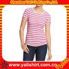 Good quality xl women fashion strip tshirts