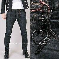 jca0114 low cortch carrot blue wrinkled black coated denim jeans