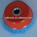 nylon abrasivo escova do copo com 16mm buraco caramanchão
