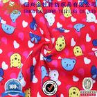 Lovely bear print fleece fabric for kids underwear and blankets