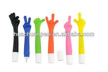 2014 the hottest novelty promotional finger pen, finger ball pen