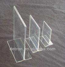 Clear Acrylic Restaurant Menu Display Stand BW-375