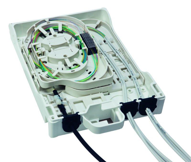 Optibox4 - de terminação de fibra óptica e caixa de distribuição