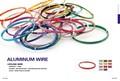 El color de bricolaje de aluminio ronda de alambre de arte( fábrica)