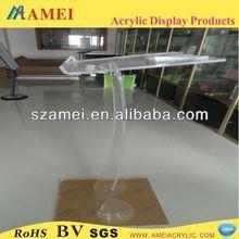 custom modern acrylic lectern podium pulpit/POP modern acrylic lectern podium pulpit