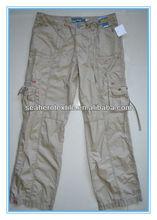Signora cargo pant; pantaloni moda; pantaloni cargo cachi