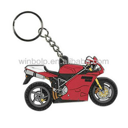 red motorcycle shape keychain gifts