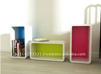 colorful cube shelf