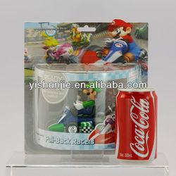 Cheap Anime Super Mario Bros karts Spring back cars,super mario bros action figures