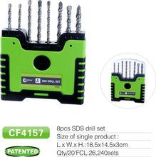 8pcs SDS drill bit in plastic case