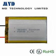 3.7v lithium polymer battery solar battery 3500mah
