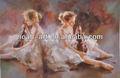 gêmeos tocar violino figura impressional pintura a óleo