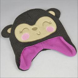 knitting patterns children beanie hats