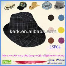 2013 Low Price Newest Cotton Fedora mens hat men hats for men,LSF04